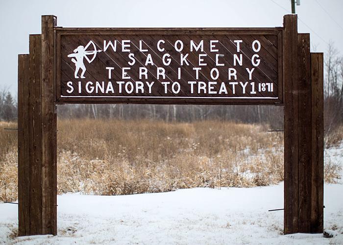 Aboriginal reserve sign by roadside