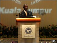 South African President Thabo Mbeki at the NAM summit in Kuala Lumpur, 2003