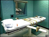 The execution room in Huntsville, Texas