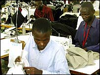 Textile factory in Nairobi