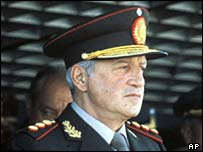 General Galtieri at National Day parade 1982