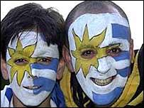 Uruguay football fans