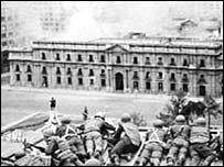 Presidential palace comes under attack in 1973 