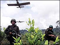 crop-spraying of illegal drug plantations