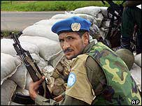 UN peacekeeper in Liberia, 2003