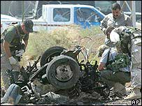 Aftermath of August 2003 attack on UN HQ in Baghdad