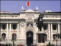 Congress building in Lima