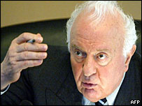 Former Georgian president Eduard Shevardnadze