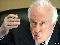 Former Georgian president Eduard Shevardnadze