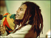 Jamaican reggae star Bob Marley