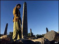 Ancient obelisks in Axum, northern Ethiopia