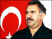 PKK leader Abdullah Ocalan, pictured after his arrest