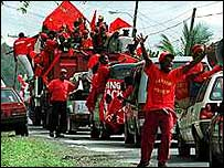 2000: Labor Party supporters celebrate victory