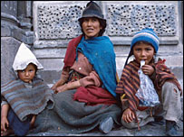 Indian family on Quito street