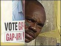 Guyana election poster