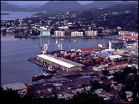 Castries port