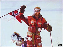Norwegian explorer Boerge Ousland crossed Antarctica alone in 1997