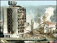 Vukovar, devastation after siege
