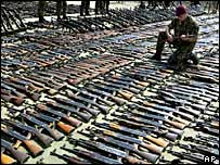 Rifles collected in Macedonian disarmament drive