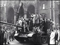 1956 uprising in Budapest unseated Communists