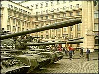Tanks in Bucharest during 1989 revolution