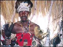 Traditional healer in Mozambique