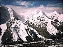 Tien Shan range straddles Kazakh, Kyrgyz, Chinese borders