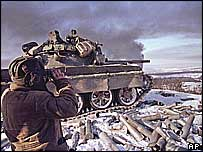 Russian forces near Grozny, 2000