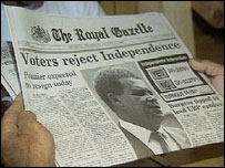 Voters rejected independence in 1995 referendum