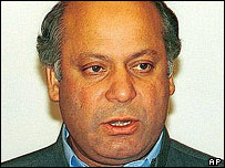 Prime minister Nawaz Sharif, overthrown in 1999 coup