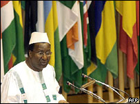 Former commission chairman Alpha Oumar Konare at launch of AU security council, 2004