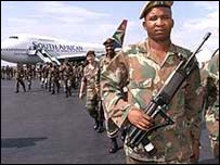 South African soldiers in Burundi