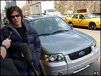 Kevin Bacon and his Ford Escape Hybrid