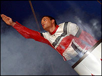 Human Cannonball Diego Zeman