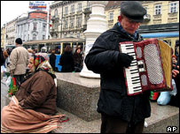 Accordion player in Zagreb