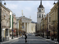 Gediminas Ave and Cathedral Square, Vilnius