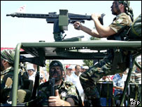 Turkish Cypriot soldiers on parade, 2005