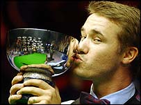 Stephen Hendry with the Welsh Open title