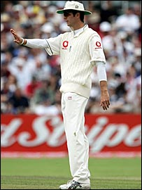 Former England captain Michael Vaughan often fielded at mid-off