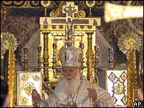 Orthodox Christmas service in St Volodymyr Cathedral, Kiev