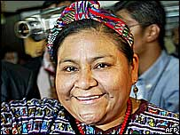 Nobel Prize winner Rigoberta Menchu