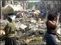Port-au-Prince commercial district, January 2005