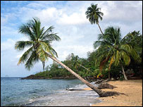 Beach at Vieux Bourg, Guadeloupe