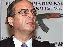 Former Peruvian spy chief Vladimiro Montesinos
