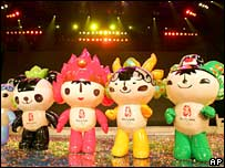 Mascots for the 2008 Beijing Olympics