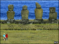 Stone giants on Chile's Easter Island