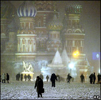 St Basil's Cathedral looms over Red Square