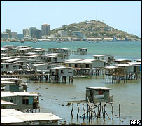Houses on stilts surrounding PNG capital Port Moresby