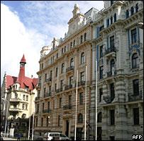 Alberta Street, central Riga