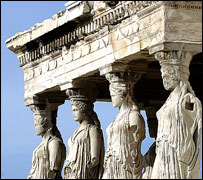 Erechtheion with the Porch of the Caryatids on the Acropolis, Athens
